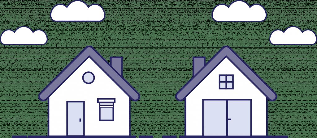 Illustratie huisjes